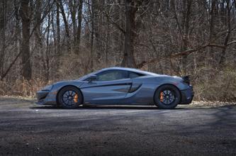 High Res Desktop Wallpaper 2019 McLaren 600LT Chicane Effect Grey