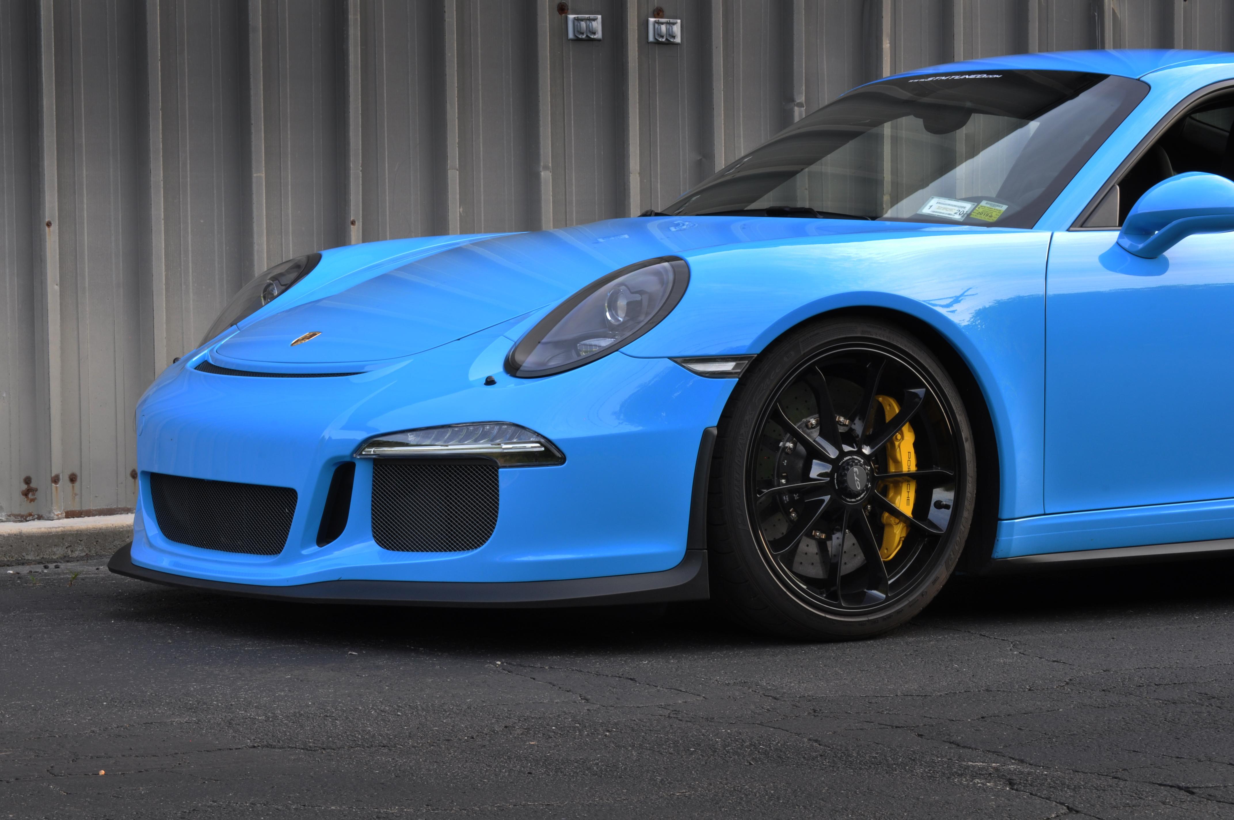 High Res Desktop Wallpaper 2015 Riviera Blue Porsche GT3