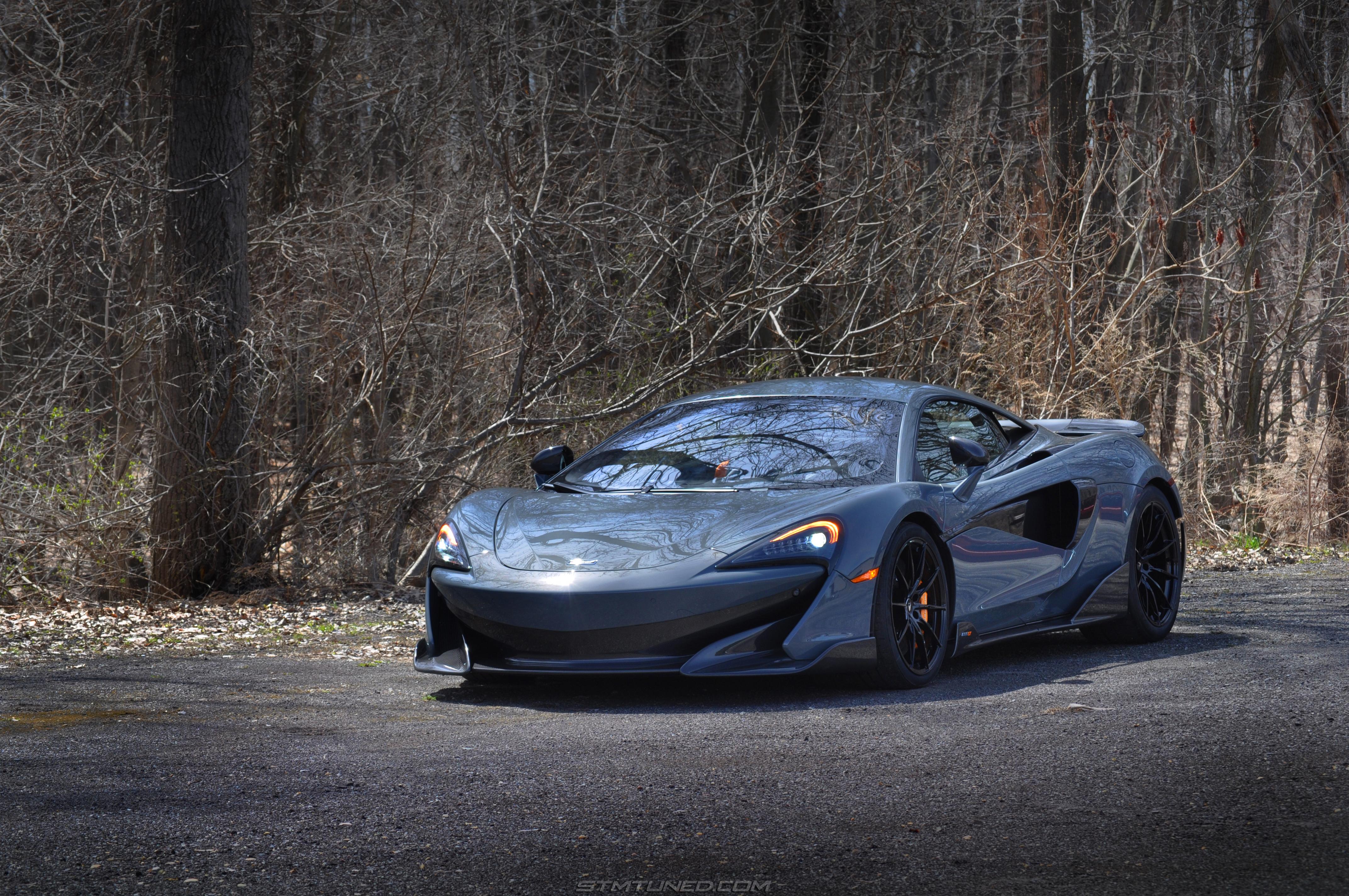 High Res Desktop Wallpaper 2019 McLaren 600LT Chicane Effect Grey Dark