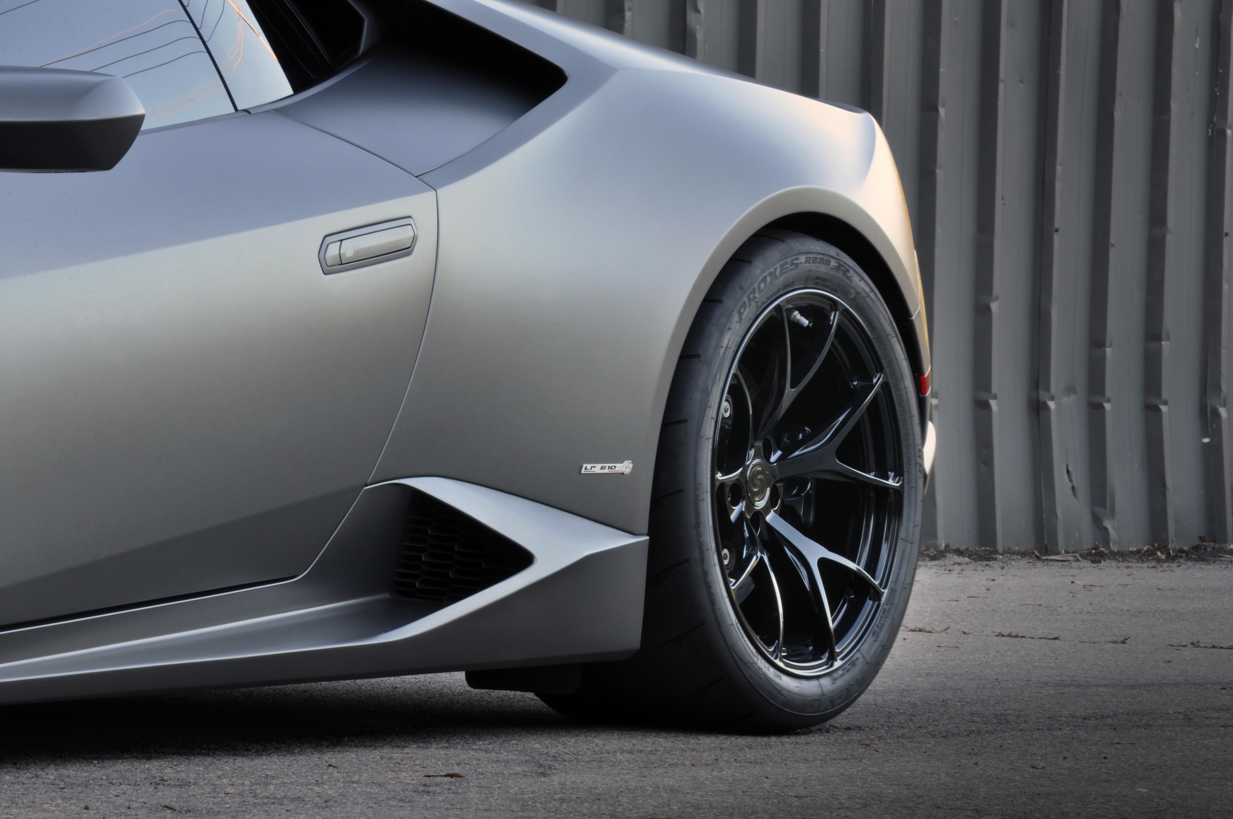 High Res Desktop Wallpaper 2015 Lamborghini Huracan matte grey metallic