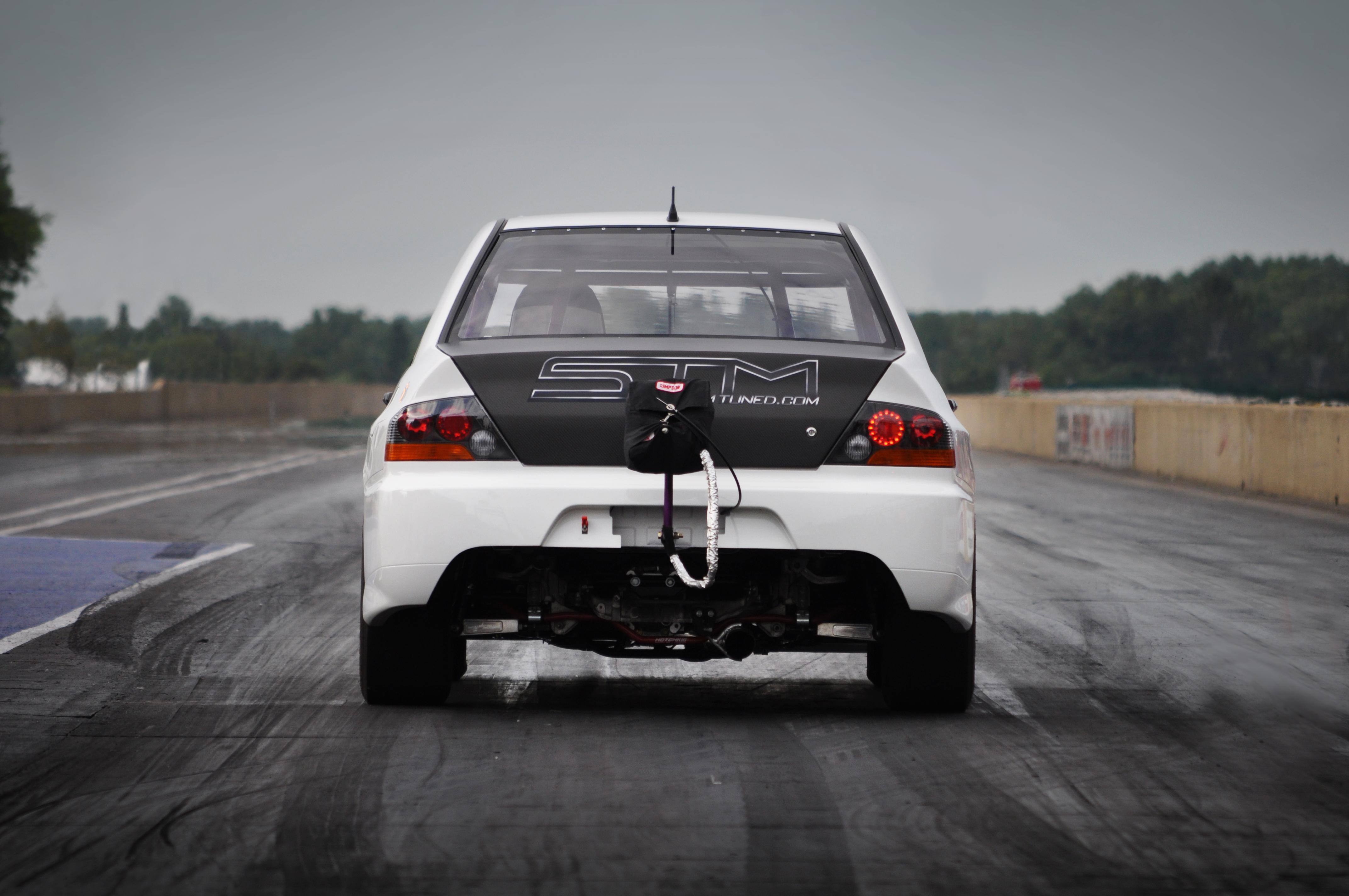 High Res Desktop Wallpaper STM White Evo RS Rear Drag Parachute
