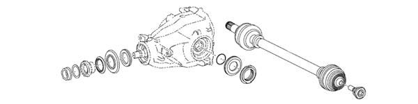 2020 Supra OEM Axles and Rear Diff Diagram
