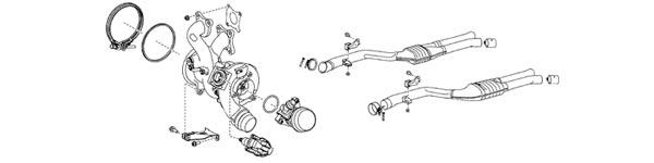 2020 Supra OEM Turbo and Exhaust Diagram
