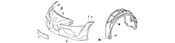 2020 Supra OEM Front Bumper Diagram