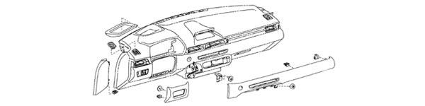 2020 Supra OEM Interior Dash Diagram