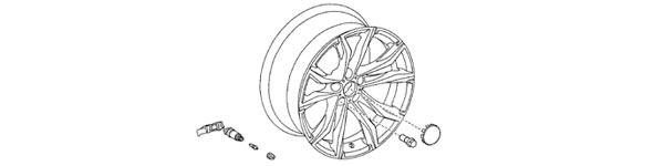 2020 Supra OEM TMPS and Wheel Diagram