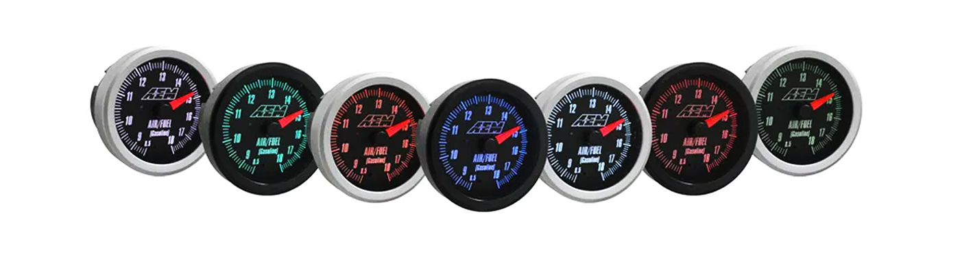 Backlight Colors for AEM Analog Gauges