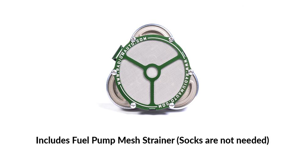 Bespoke Stainless Steel Triple Pump Mesh Strainer